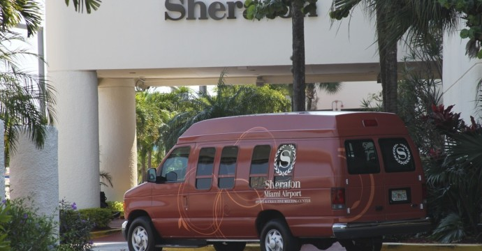 Sheraton Miami Airport Parking Shuttle Van MIA
