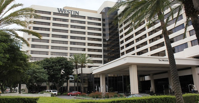 westin lax parking entrance, westin lax airport