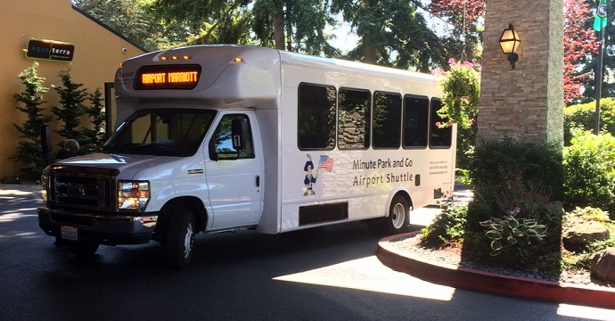 Minute park and go shuttle to seatac airport