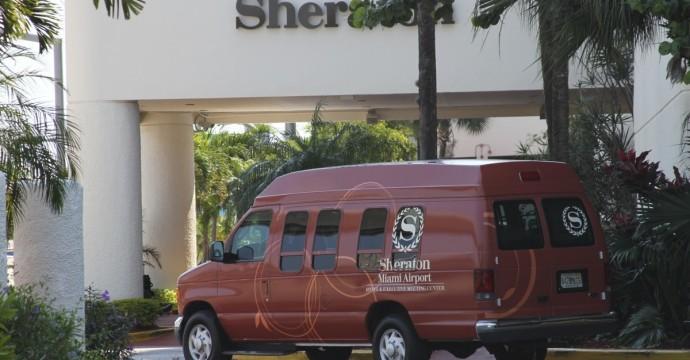 Sheraton Miami Airport Parking Shuttle Van MIA