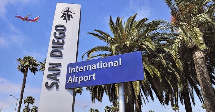 San Diego Airport Parking Sign
